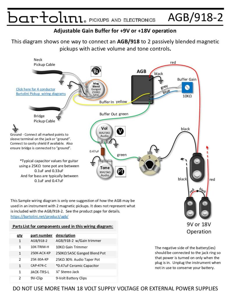 Wiring       Diagrams     Bartolini    Pickups      Electronics
