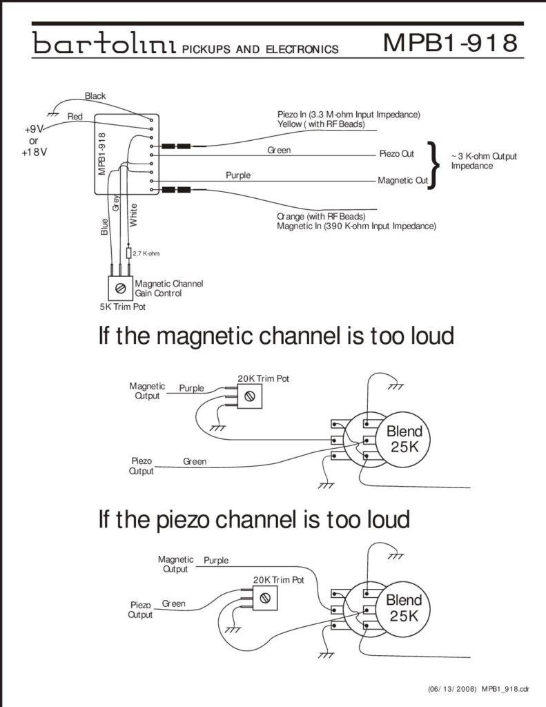 MPB1-918 Wiring Archive - Bartolini Pickups & Electronics on 12v diesel fuel schematics diagram, mazda tribute cruise control harness diagram, cat5 diagram, mazda 6 throttle connection diagram, secondary ignition pickup sensor probe schematic diagram, rj45 connector diagram,