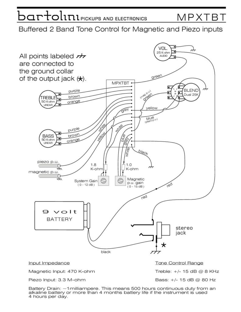 Wiring Diagrams Bartolini Pickups Electronics 1 Humbucker Strat Diagram Mpxtbt