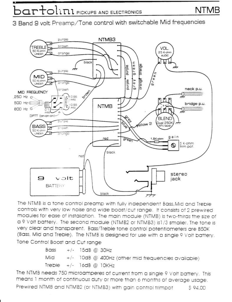 Wiring Diagrams Bartolini Pickups Electronics P Bass Harness Ntmb Archive