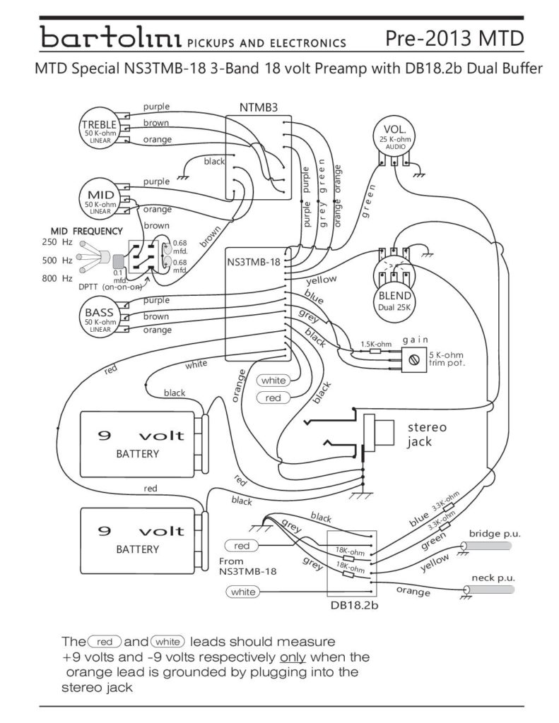 mtd pre-2013 special preamp wiring