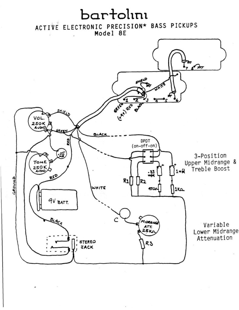 Precision Bass Wiring Diagram from bartolini.net