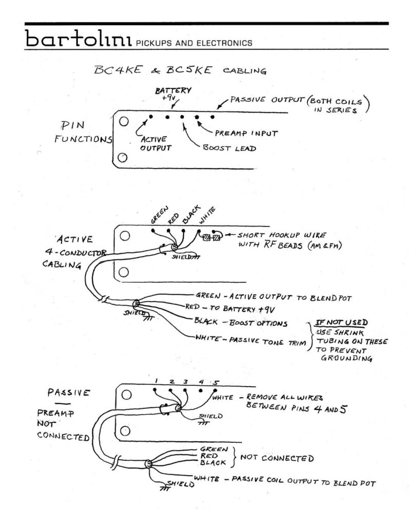 Wiring Diagrams Bartolini Pickups Electronics Diagram Together With Active Pickup 1 Also Push Ke