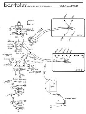 wiring diagrams bartolini pickups \u0026 electronicse88 d with v88 c wiring